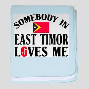 Somebody In East Timor baby blanket