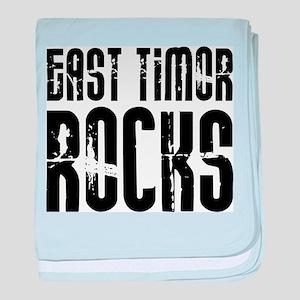 East Timor Rocks baby blanket