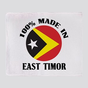 Made In East Timor Throw Blanket