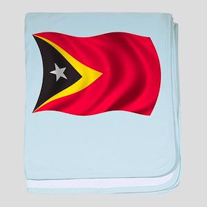 Wavy East Timor Flag baby blanket