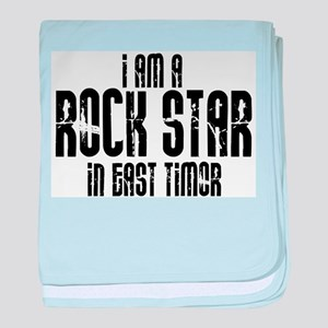 Rock Star In East Timor baby blanket