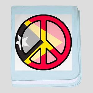 Peace In East Timor baby blanket