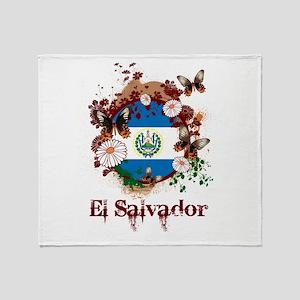 Butterfly El Salvador Throw Blanket