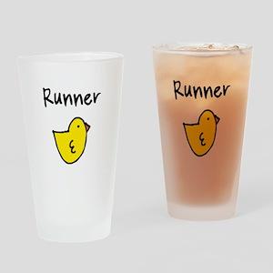 Runner Chick Pint Glass