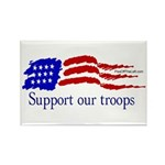 Support Our Troops Rectangle Magnet (10 pack)