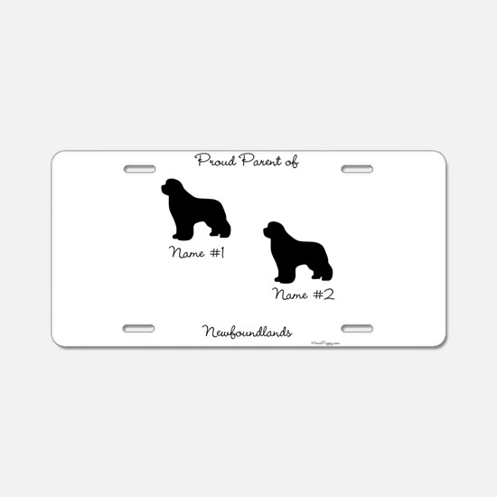 2 Newfoundlands Aluminum License Plate