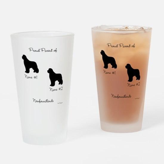 2 Newfoundlands Pint Glass