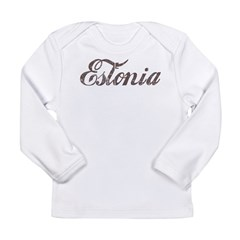 Vintage Estonia Long Sleeve Infant T-Shirt