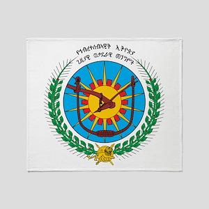 Ethiopia Coat Of Arms 1975 Throw Blanket