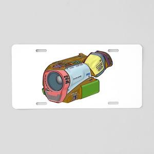 Designer Camcorder Aluminum License Plate