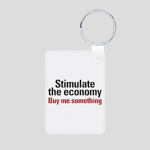 Stimulate The Economy Aluminum Photo Keychain