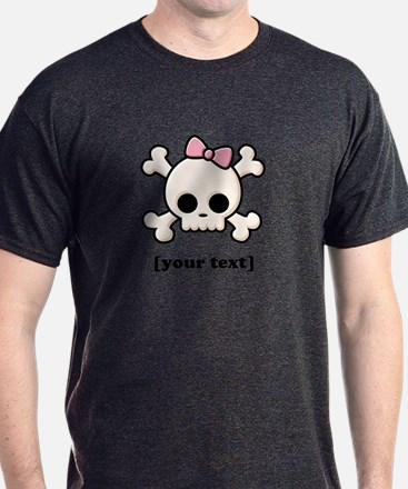 [Your text] Cute Skull Girl T-Shirt