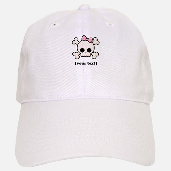 [Your text] Cute Skull Girl Baseball Baseball Cap