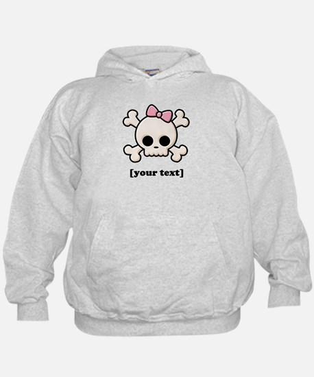 [Your text] Cute Skull Girl Hoodie