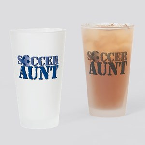 Soccer Aunt Drinking Glass