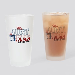 My Aunt in TX Drinking Glass