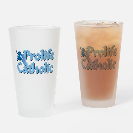 Prolife Catholic Cross Pint Glass