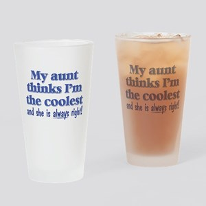 My Aunt Thinks Drinking Glass