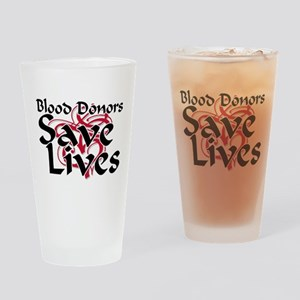 Blood Donors Save Lives Pint Glass