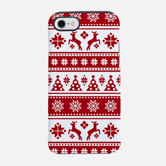 Christmas Holiday Nordic Patte iPhone 7 Tough Case