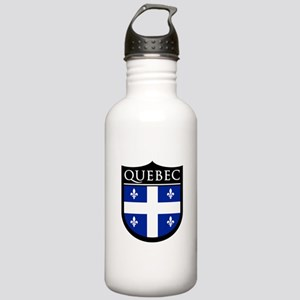 Quebec Flag Patch Stainless Water Bottle 1.0L
