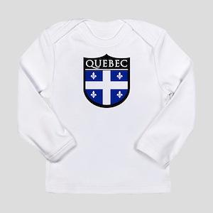 Quebec Flag Patch Long Sleeve Infant T-Shirt