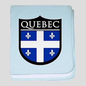 Quebec Flag Patch baby blanket