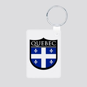 Quebec Flag Patch Aluminum Photo Keychain