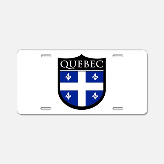 Quebec Flag Patch Aluminum License Plate