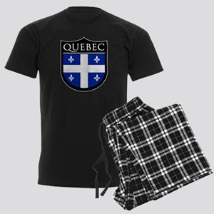 Quebec Flag Patch Men's Dark Pajamas