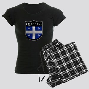 Quebec Flag Patch Women's Dark Pajamas