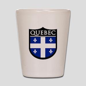 Quebec Flag Patch Shot Glass