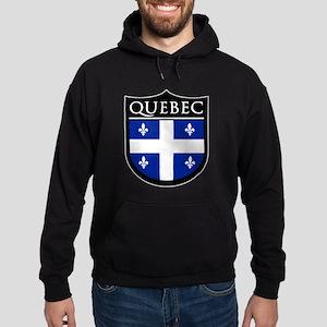 Quebec Flag Patch Hoodie (dark)