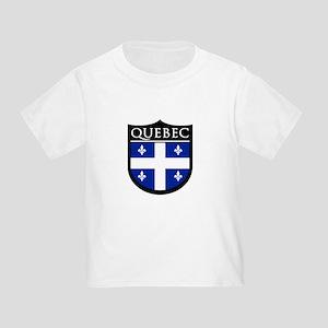 Quebec Flag Patch Toddler T-Shirt