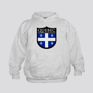 Quebec Flag Patch Kids Hoodie
