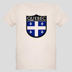 Quebec Flag Patch Organic Kids T-Shirt