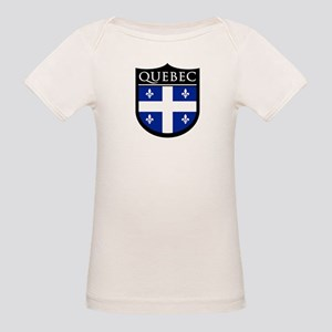 Quebec Flag Patch Organic Baby T-Shirt
