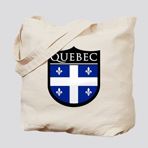Quebec Flag Patch Tote Bag