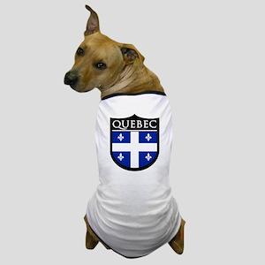 Quebec Flag Patch Dog T-Shirt
