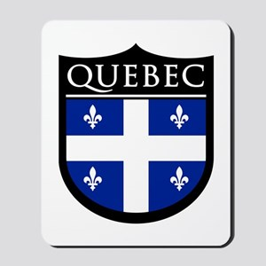 Quebec Flag Patch Mousepad