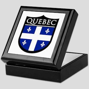 Quebec Flag Patch Keepsake Box
