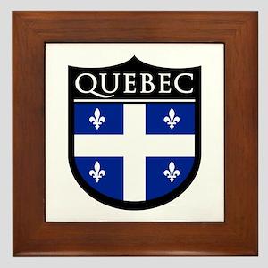 Quebec Flag Patch Framed Tile