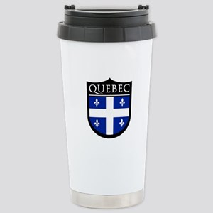 Quebec Flag Patch Stainless Steel Travel Mug
