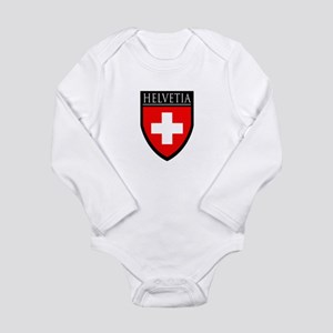 Swiss (HELVETIA) Patch Long Sleeve Infant Bodysuit