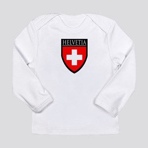 Swiss (HELVETIA) Patch Long Sleeve Infant T-Shirt