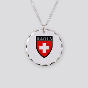 Swiss (HELVETIA) Patch Necklace Circle Charm