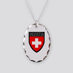 Swiss (HELVETIA) Patch Necklace Oval Charm