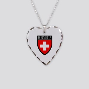 Swiss (HELVETIA) Patch Necklace Heart Charm