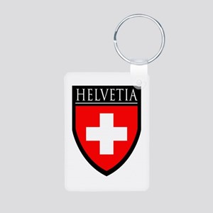 Swiss (HELVETIA) Patch Aluminum Photo Keychain