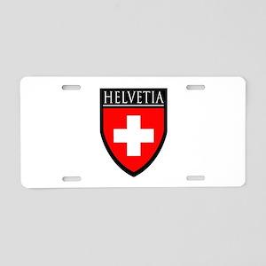 Swiss (HELVETIA) Patch Aluminum License Plate